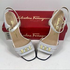 'Boutique' Leather Sandals by Salvatore Ferragamo